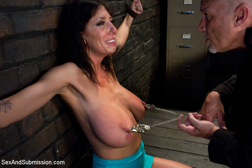 Breast bondage and submission sex
