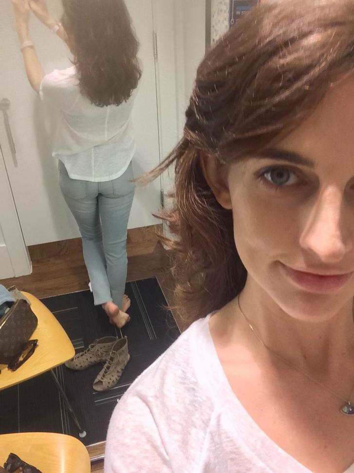 Mature self shot dressing room