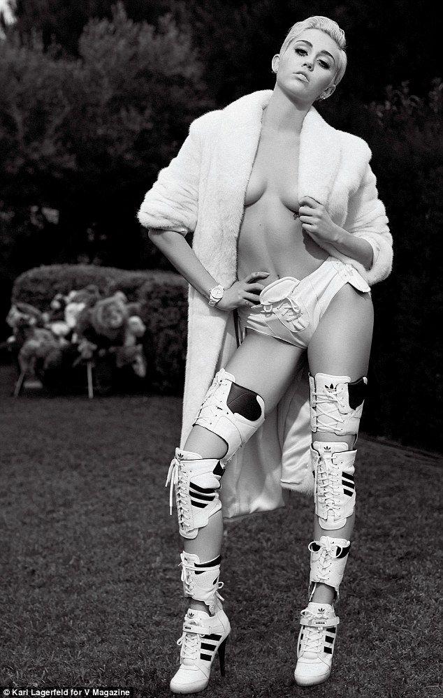 Miley cyrus v magazine nude
