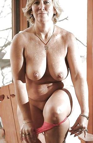 Older natural mature tits