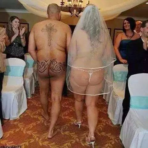 Couple get married nude