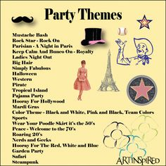 Funny adult birthday party themes
