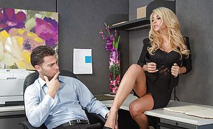 Chantelle fontain lingerie and high heels