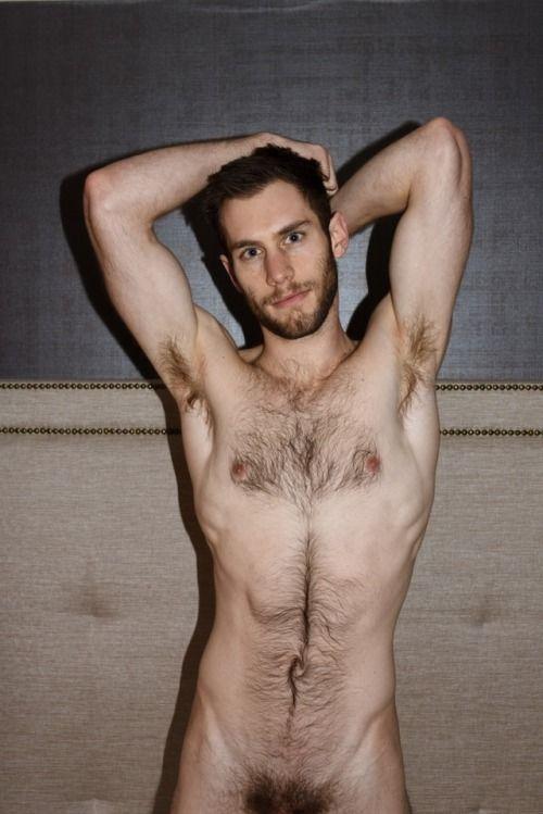 Naked hairy thin men