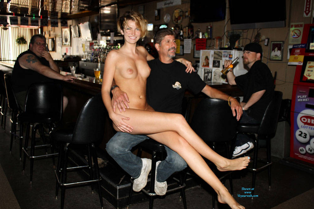 Nude girls in the bar