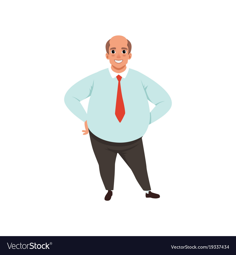 Bald chubby senior men