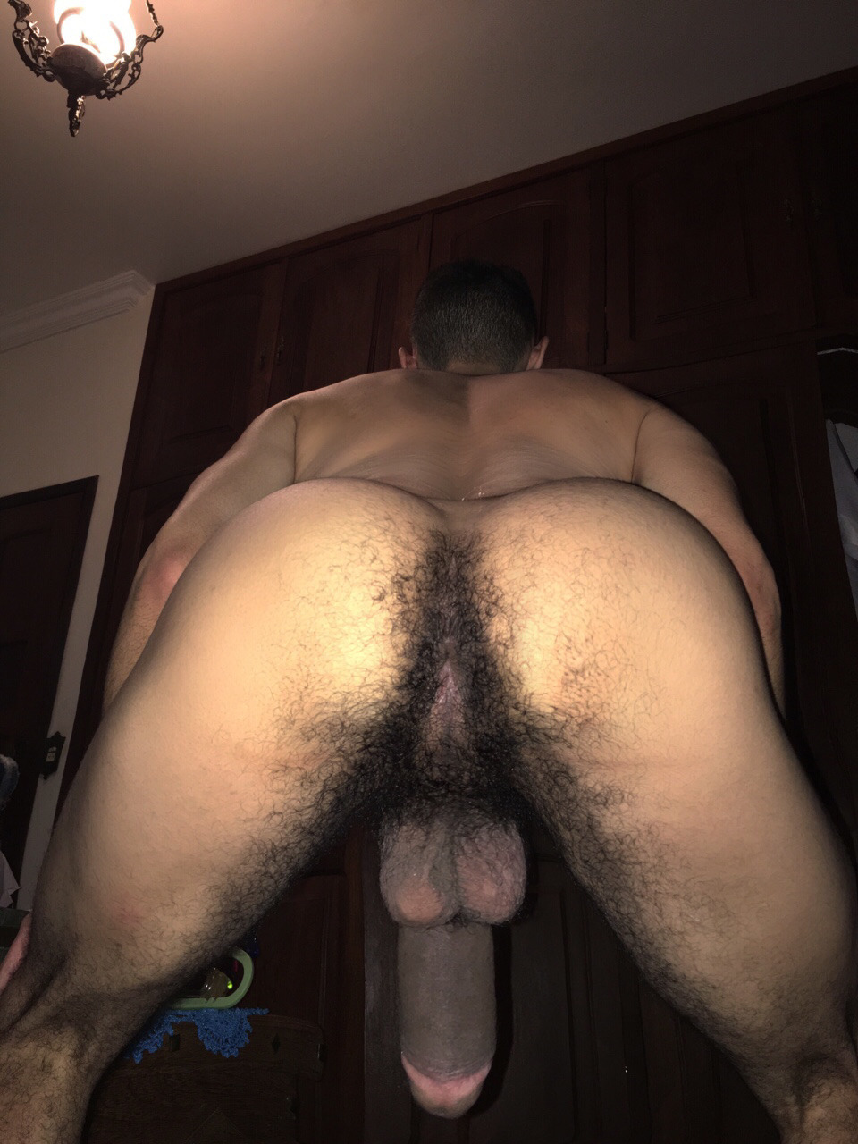 Man nude hairy ass