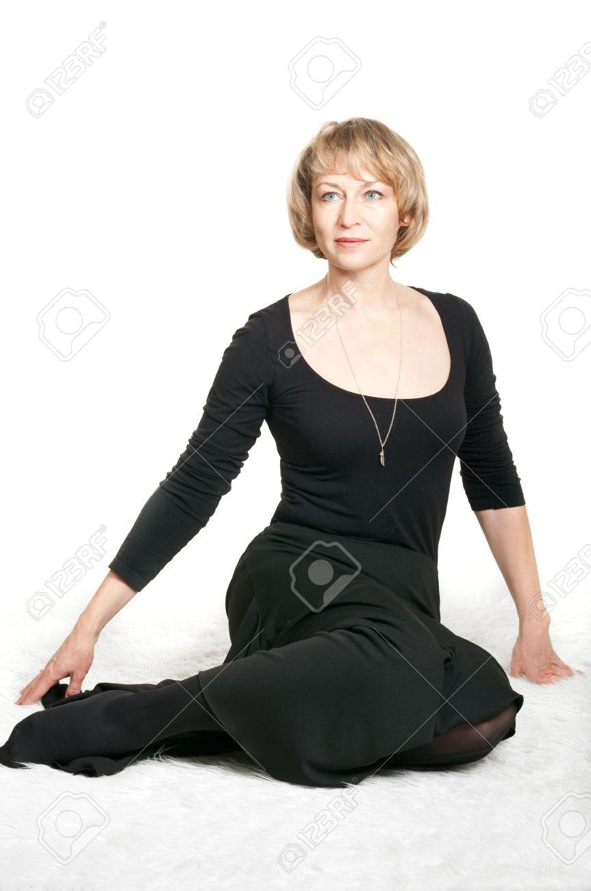 Mature black dress video