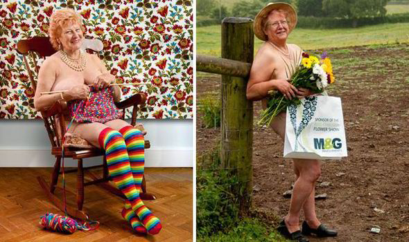 Naked granny sarah uk