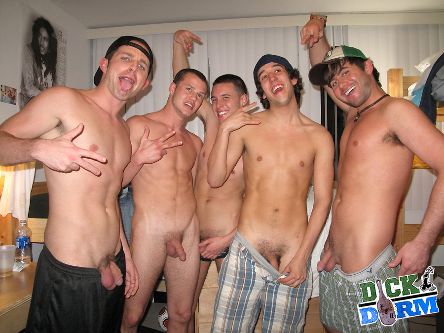 Naked men in college dorms