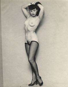 Vintage nude pin up models