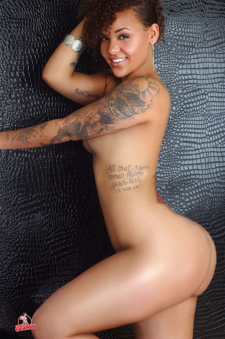 Nude tattooed black girl
