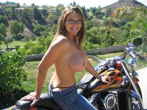 Nude biker chicks on motorcycles