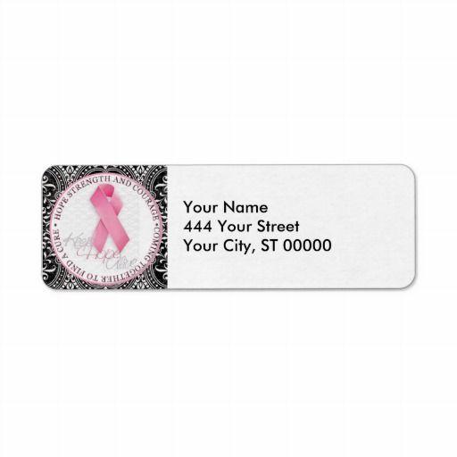 Breast cancer return address label