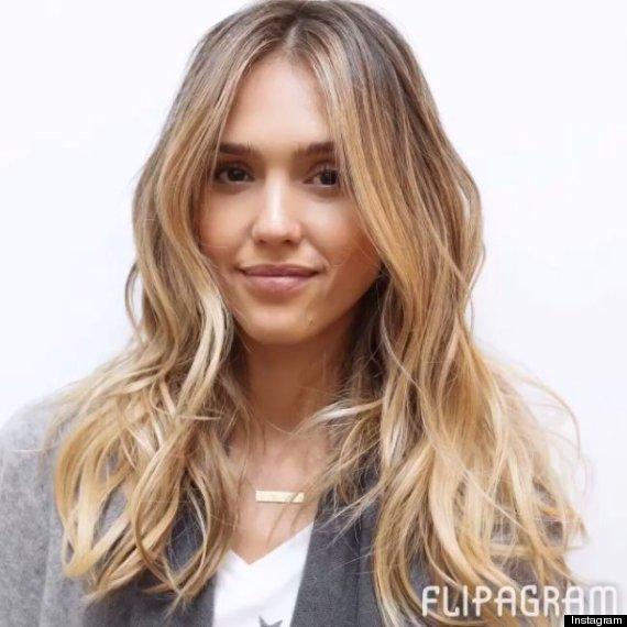Jessica alba blonde hair color