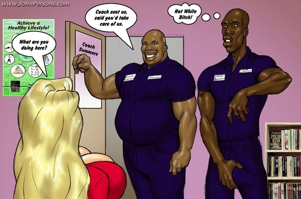 Blonde black cock cartoon comic