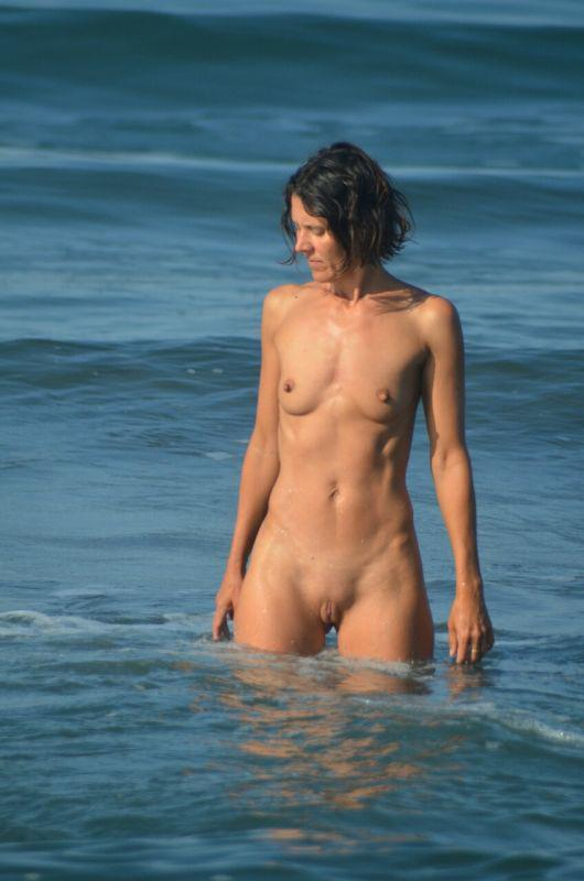 Hairy beach pussy mounds