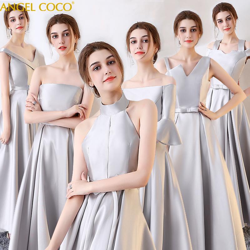 Light silver wedding dress