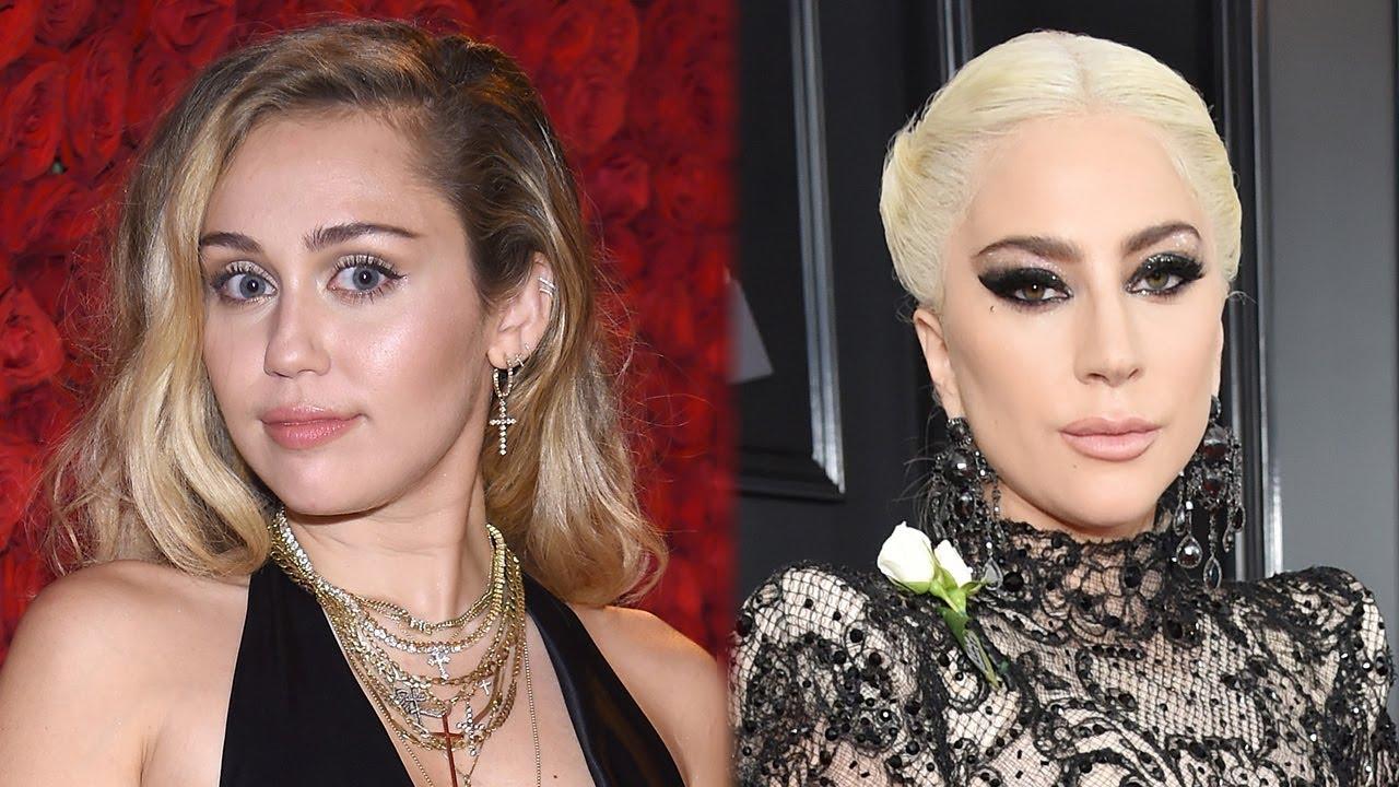 Miley cyrus lady gaga