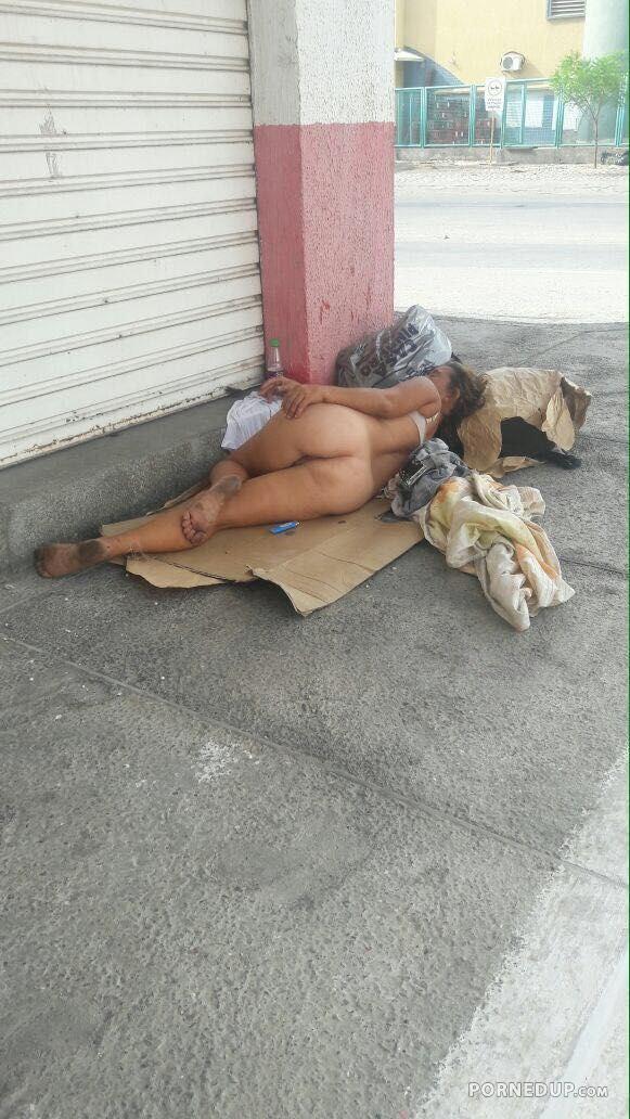 Homeless girls nude in public