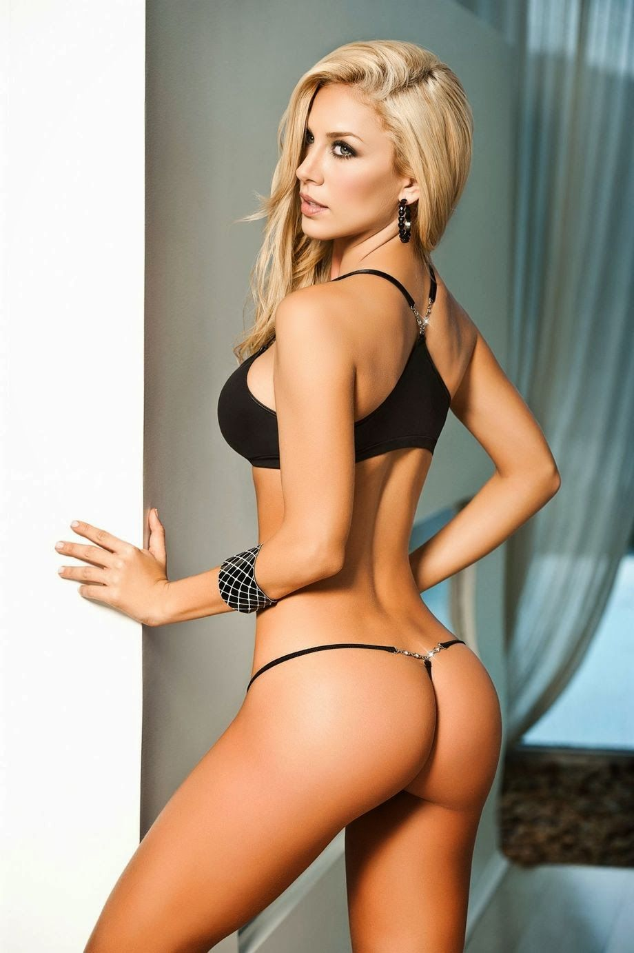 Sexy blonde lingerie models