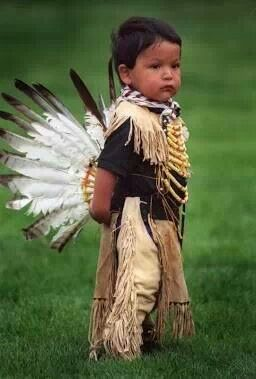 Cute american indian boys