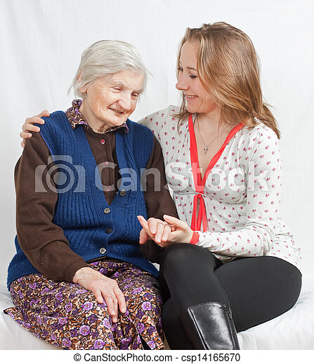Old women with young girls