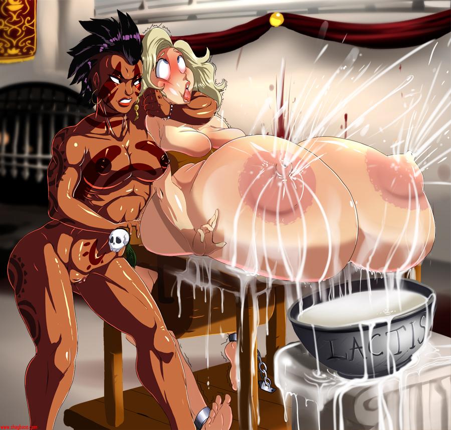 Big tits milk hentai
