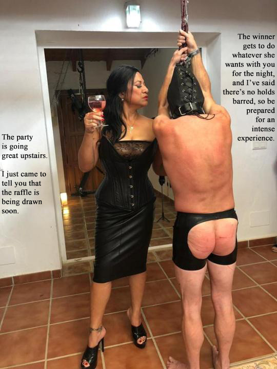 Femdom slave on leash
