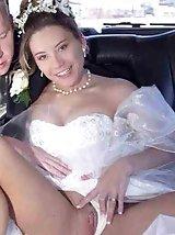 Upskirt brides no panties