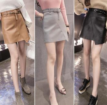 Girl short office skirt