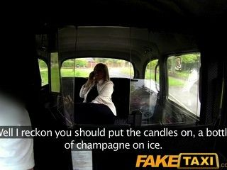 Fake horny blonde fucked over taxi bonnet
