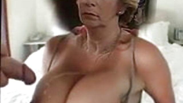 Big tits pearl necklace