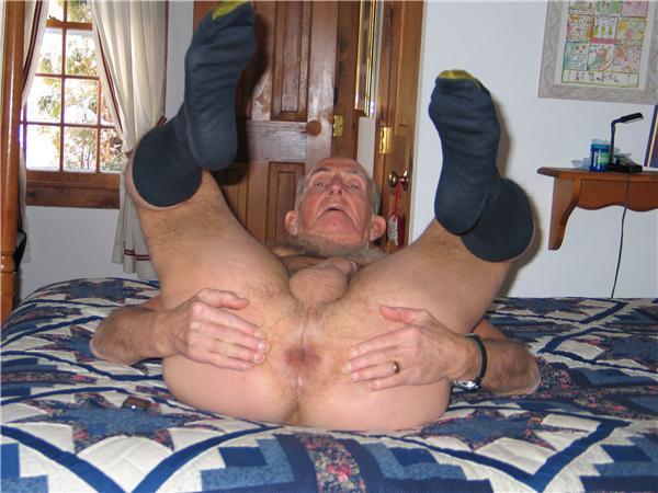 Ass nude men old man