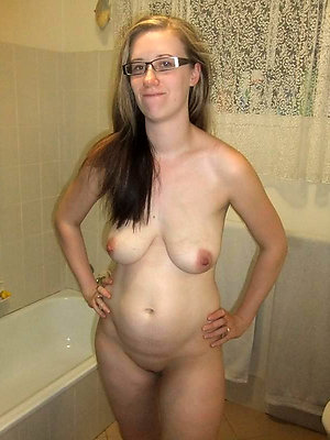 Nude woman glasse picture