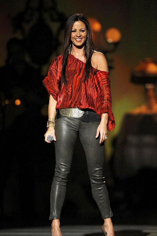 Sara evans leather pants