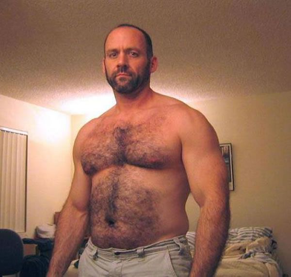 Hairy naked big men