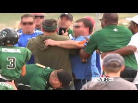 Pee wee football brawl video