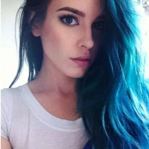 Sexy girls with blue hair