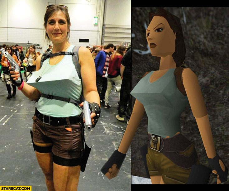 Lara croft tomb raider cosplay