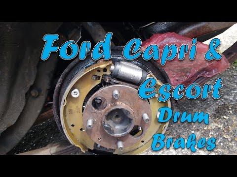 Changing brake pads on escort