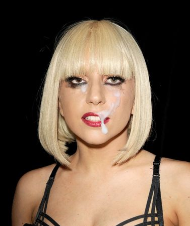 Lady gaga fake cum facial