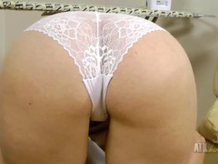 Bent over cum on panties