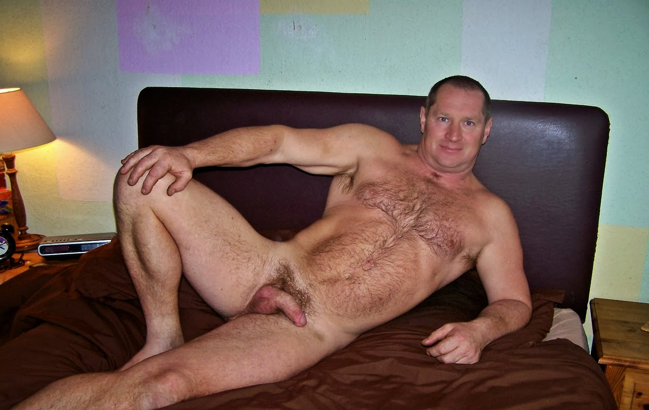 Mature hairy naked men