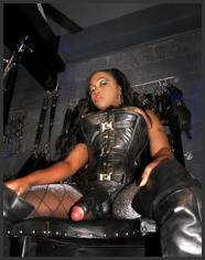 White slave black mistress strapon