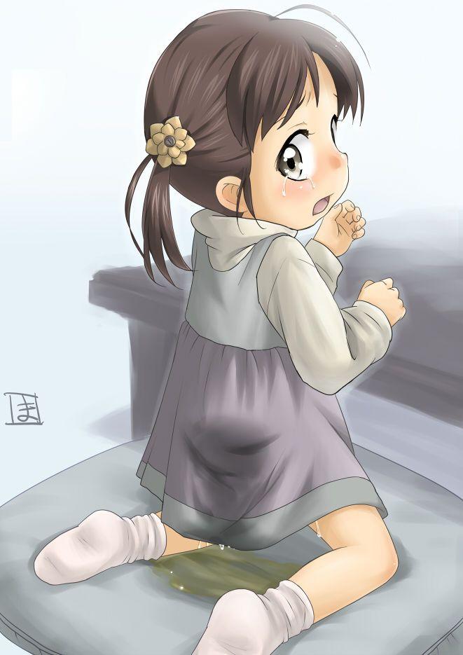 Anime girl pee nude