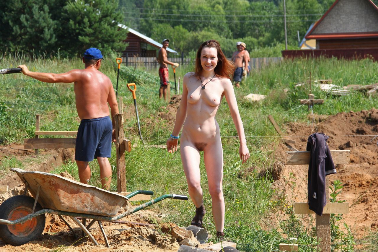 Tumblr nude women doing yard work