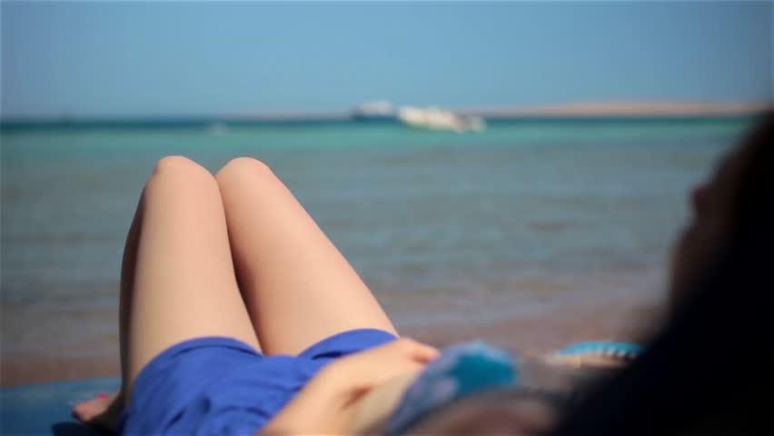 Nude teen beach clip