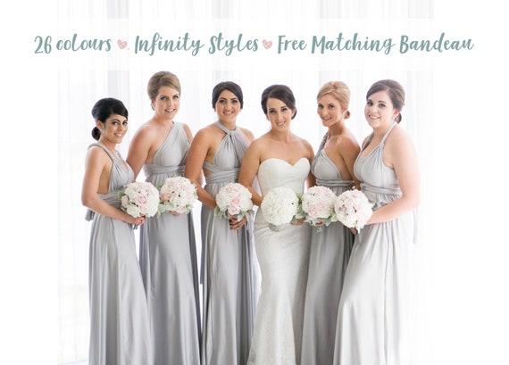 Light silver wedding dress