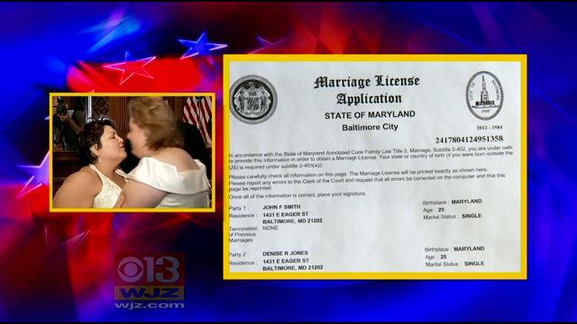 Marriage maryland same sex